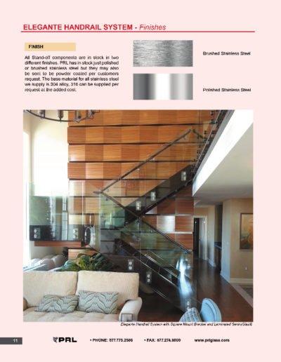 Elegante Handrail System - Finishes