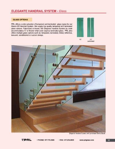 Elegante Handrail System - Glass