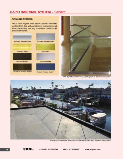 Rapid Handrail System - Finishes