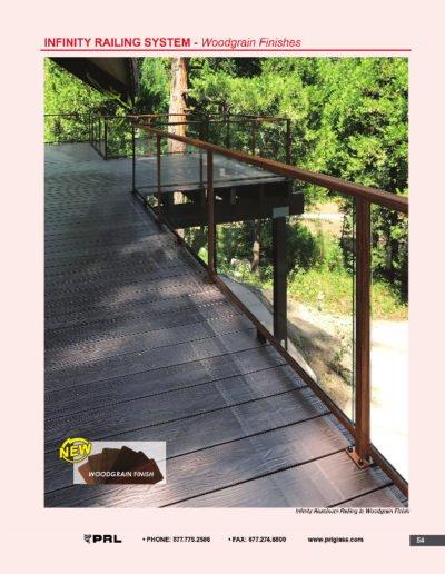 Infinity Aluminum Railing - Woodgrain Finshes