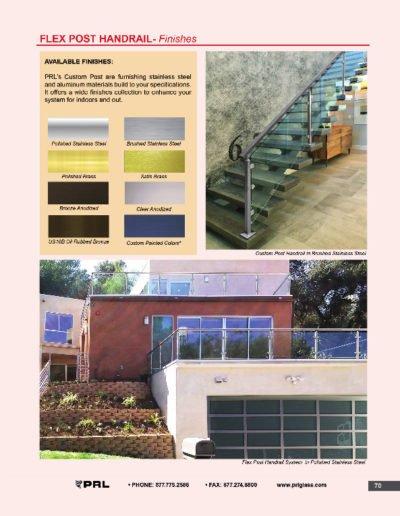 Flex Post Handrail System - Finishes