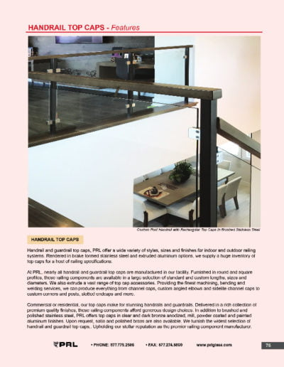 Handrail Top Caps - Features