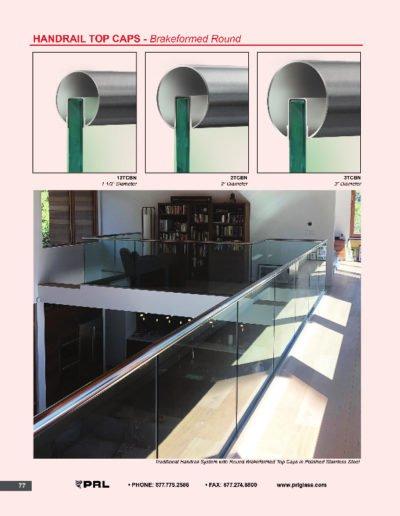 Handrail Top Caps - Breakformed Round
