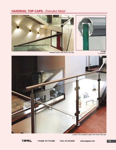 Handrail Top Caps - Extruded Metal