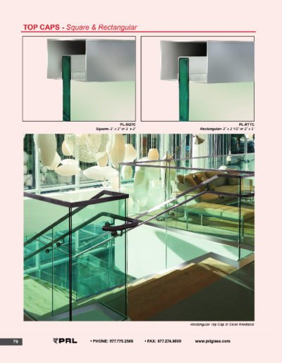 Handrail Top Caps - Square & Rectangular