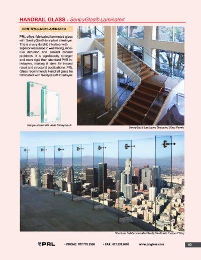 Handrail Glass - SentryGlas® Laminated