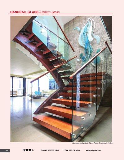 Handrail Glass - Pattern Glass