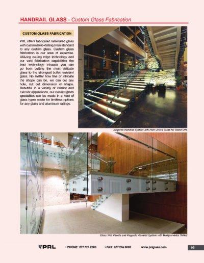 Handrail Glass - Custom Glass Fabrication