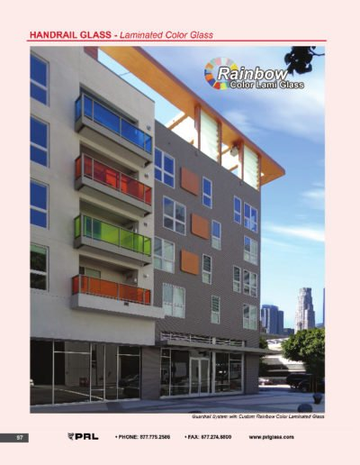 Handrail Glass - Laminated Color Glass