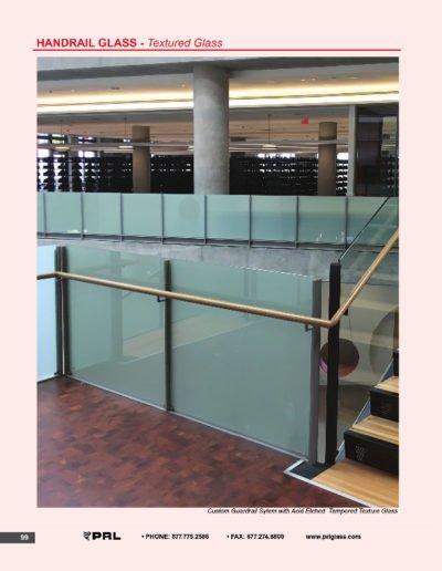 Handrail Glass - Textured Glass