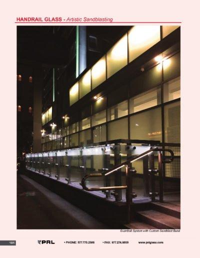Handrail Glass - Artistic Sandblasting
