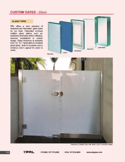 Custom Gates - Glass