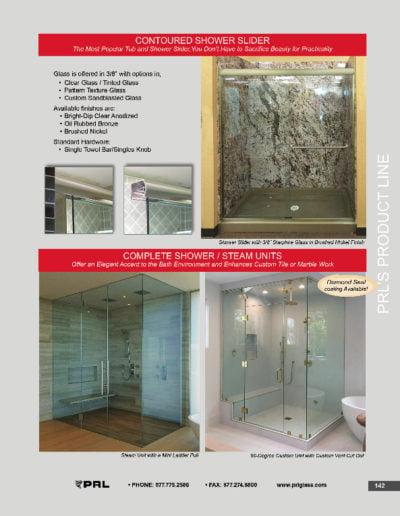 Contoured Shower Slider & Steam Units