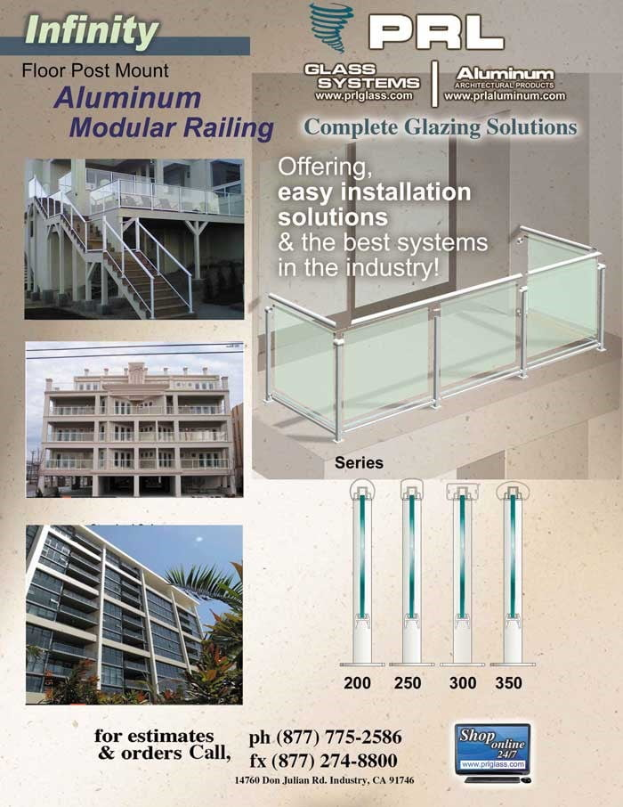 Infinity Glass and Aluminum Railing System