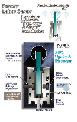 Dry Set Handrail Install Cutaway