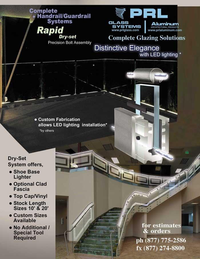 Glass Railing with LED Lighting