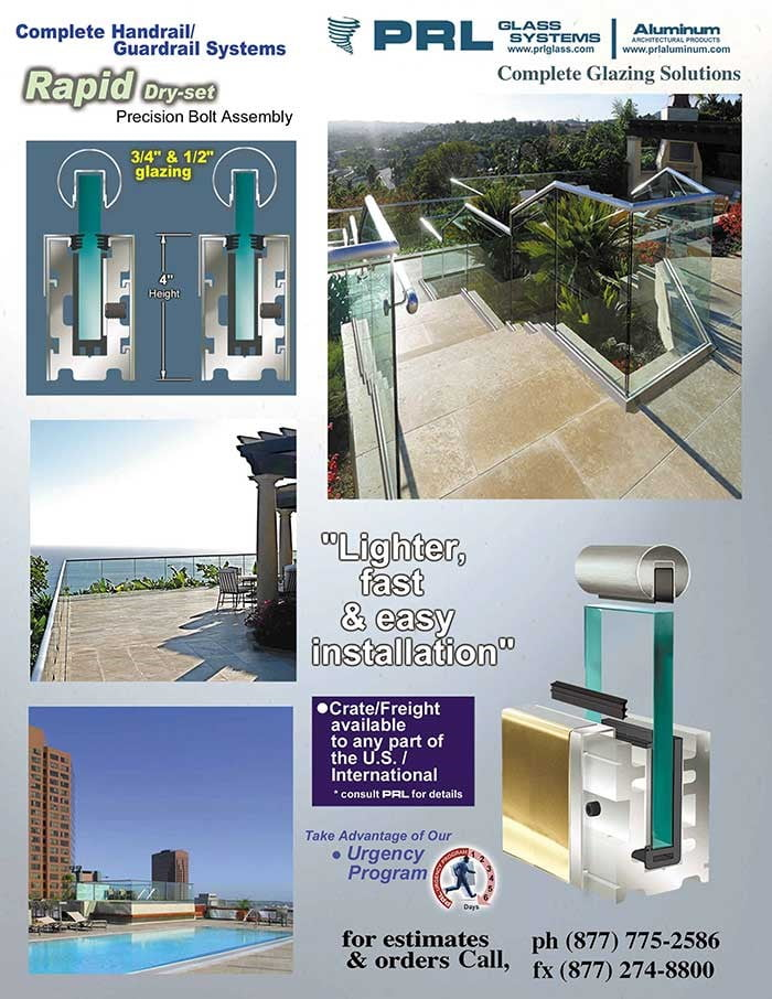 Rapid-Set Handrail Base for 3/4 Inch Glass